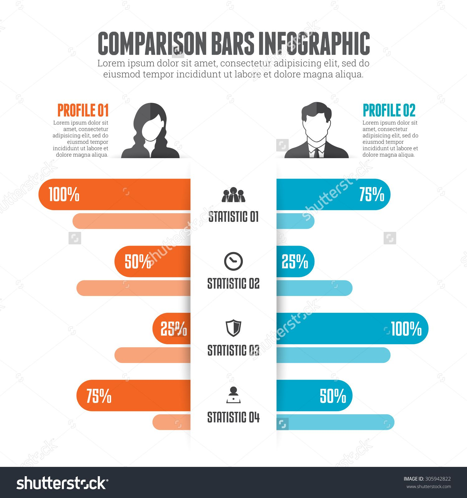 vector library library Bars infographic design element. Vector charts comparison