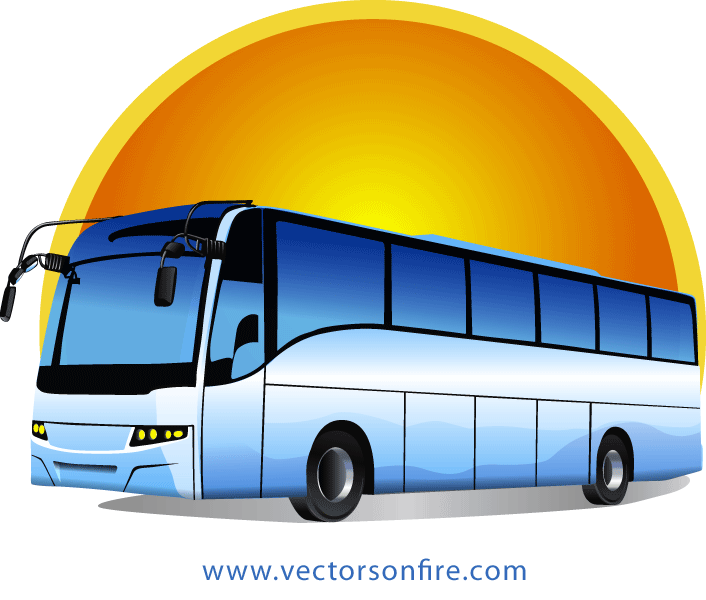 clip transparent Free Tour Bus at Sunrise by Mihai Ionascu PSD files
