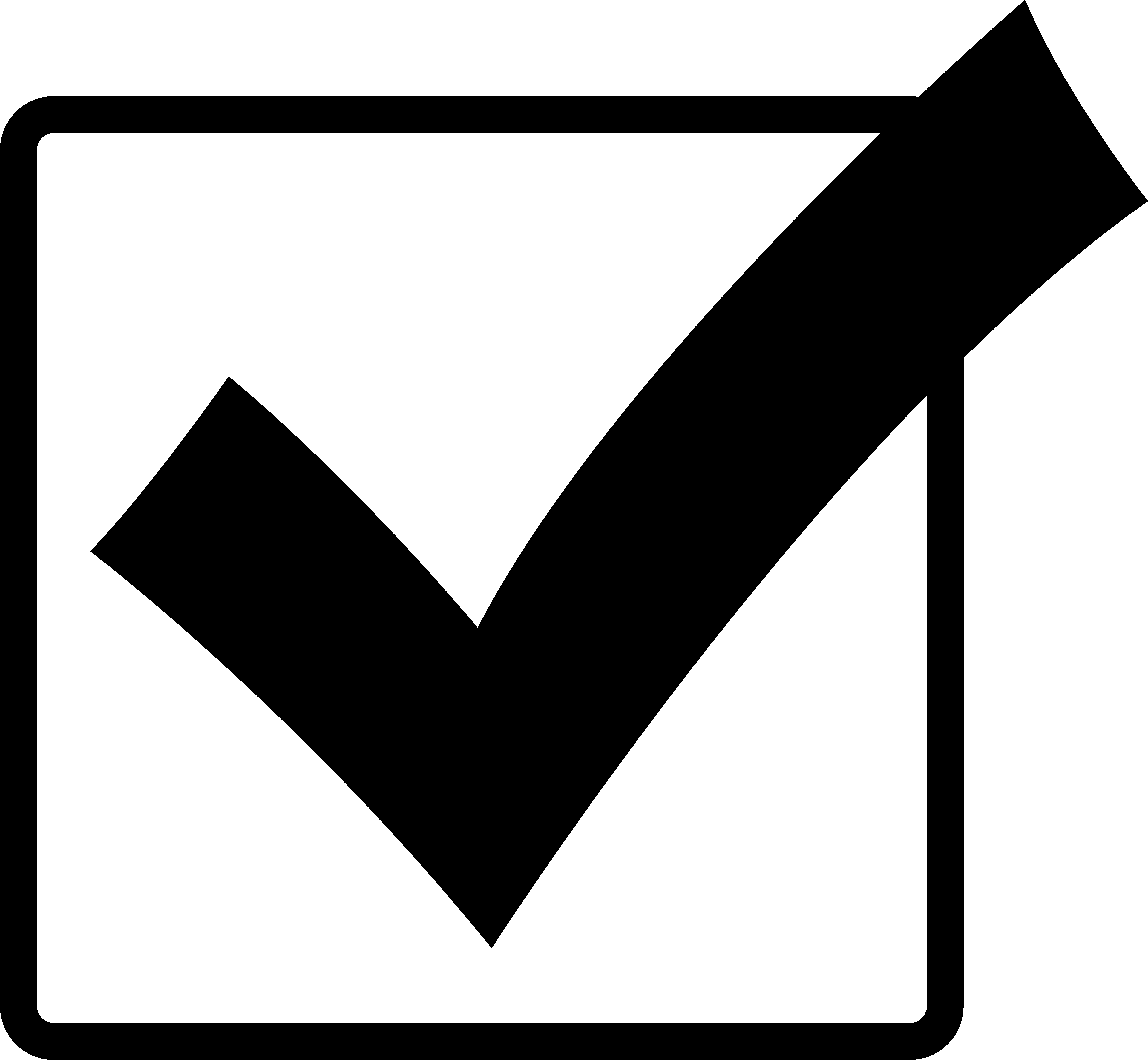 svg freeuse download Check box panda free. Yes clipart ballot