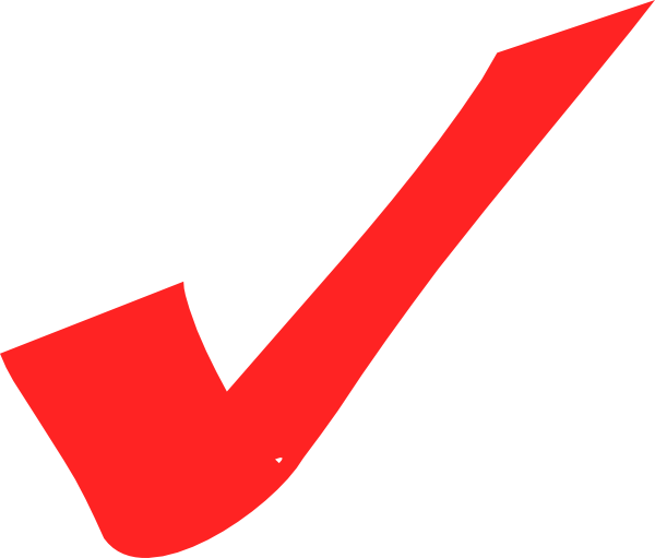 svg freeuse Checkmark clipart tick. Red check mark .