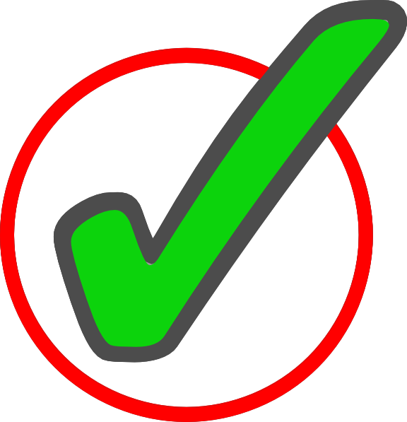 vector transparent stock Check clipart feature. Green mark in circle.