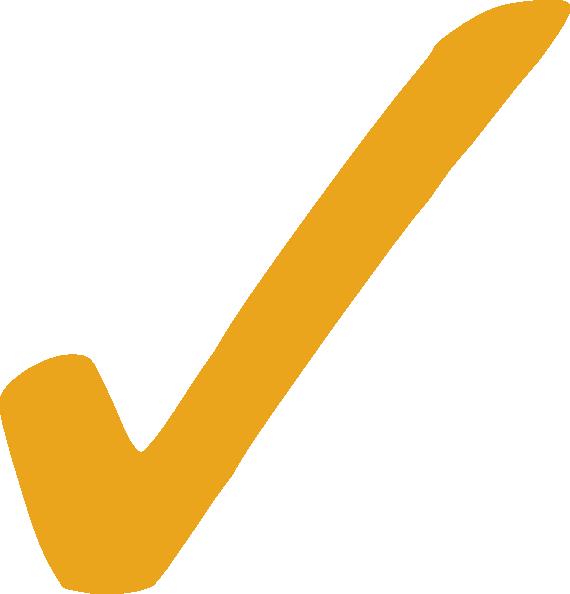 clip black and white stock Gold Check Mark