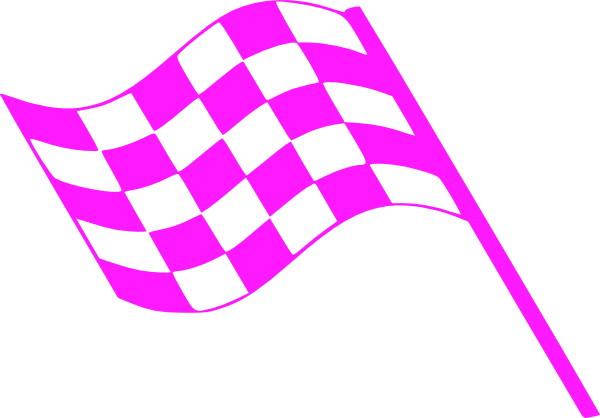 freeuse library Pink flags at clker. Checkered clipart clip art.