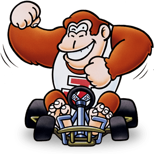 black and white download Super snes character artwork. Checkered clipart mario kart
