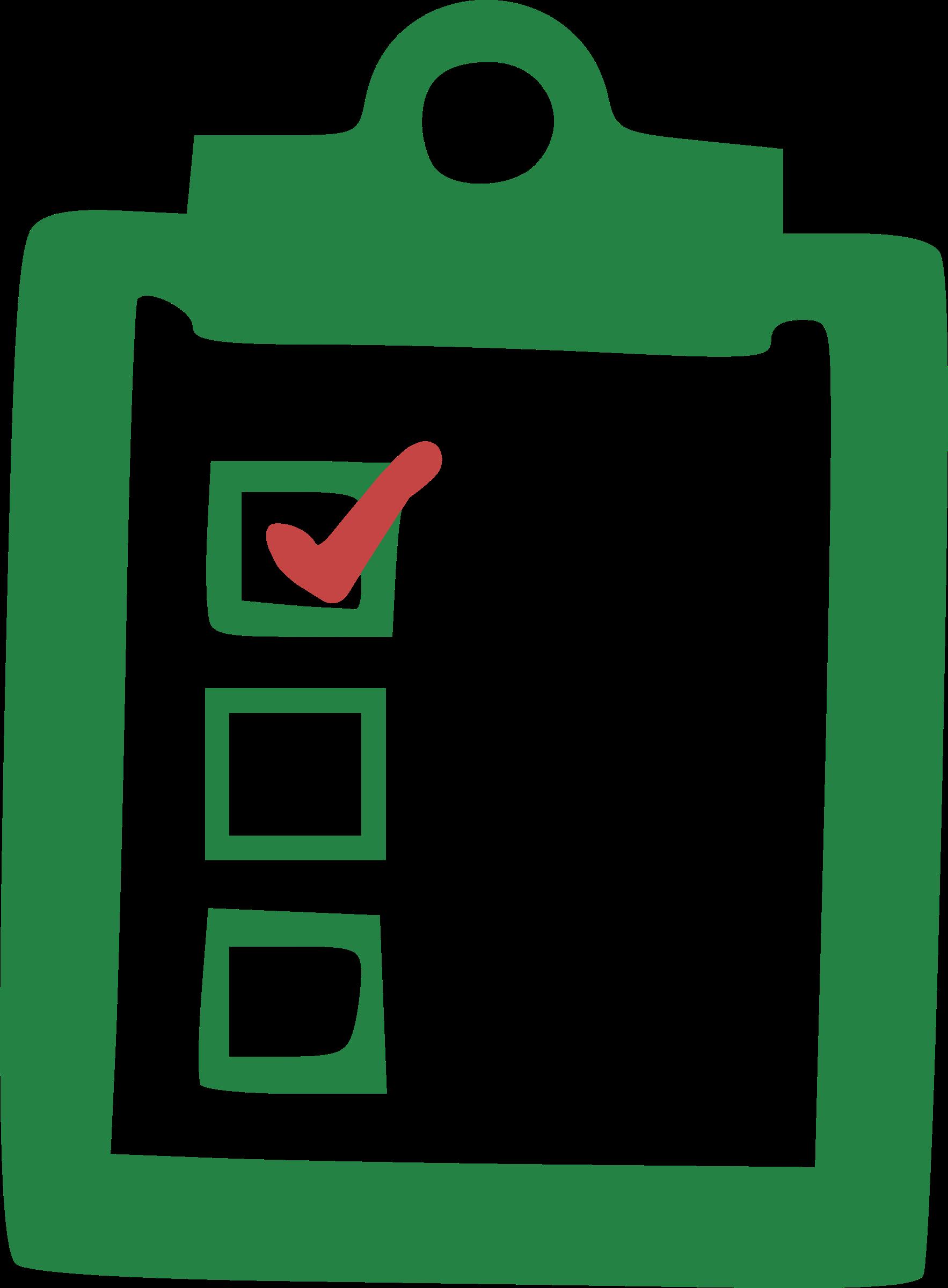 jpg transparent download Checklist clipart. Big image png.