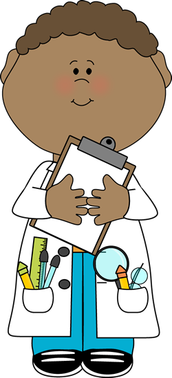 clip free library Clipboard clipart 2 person. Boy scientist with postacie.
