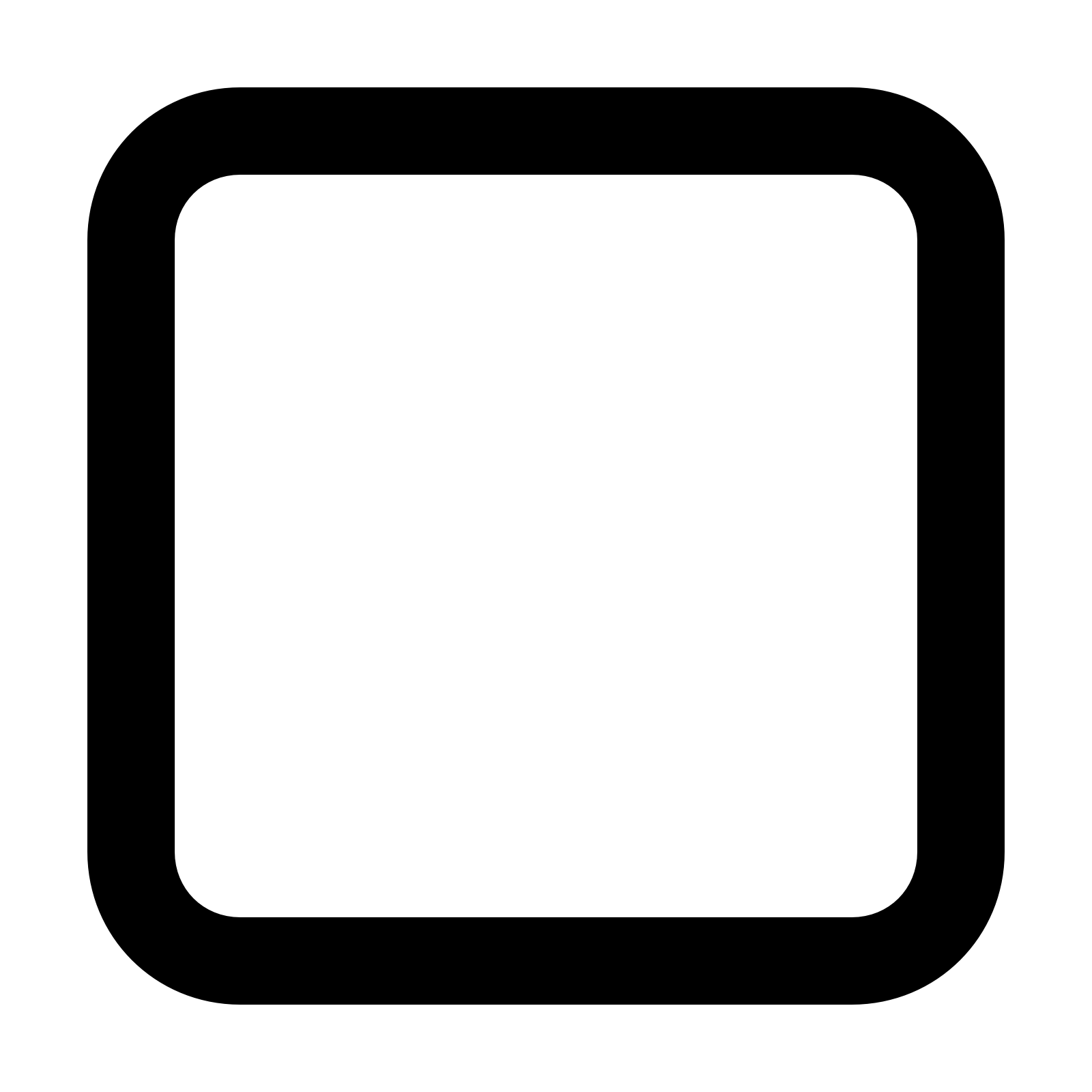 transparent library Unchecked Checkbox Icon