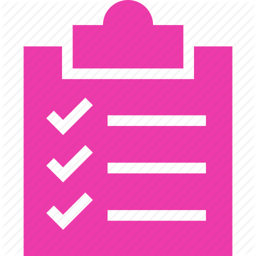 clip art black and white library checklist vector pink #91542340