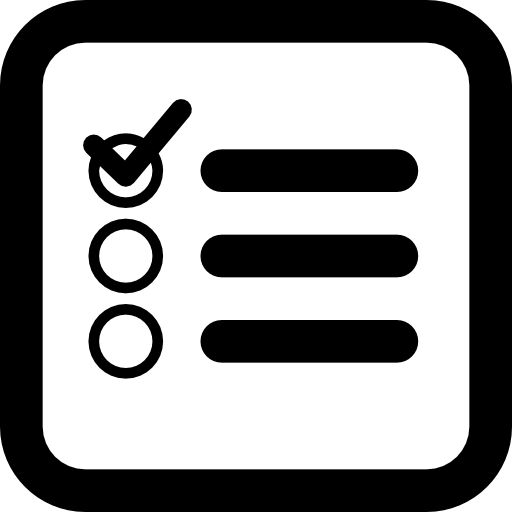 banner freeuse Checklist square interface symbol of rounded corners