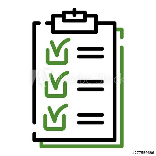 clip free stock Checklist icon