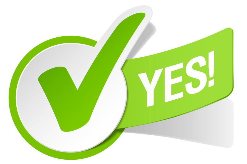 transparent Yes clipart pro. Checkmark black and white