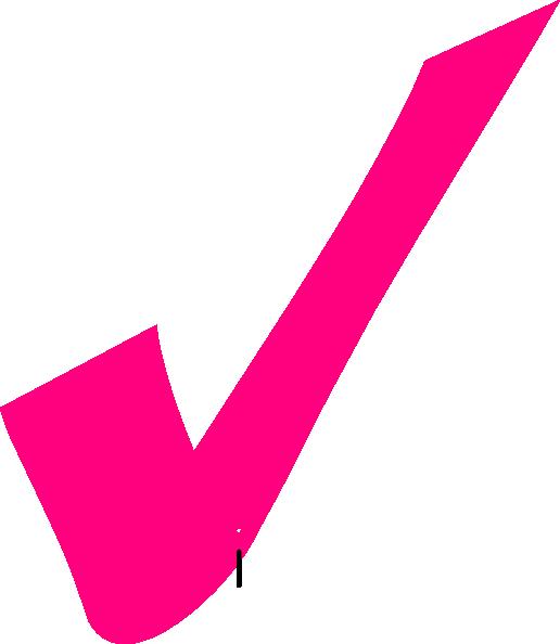 free Pink Tick Clip Art at Clker
