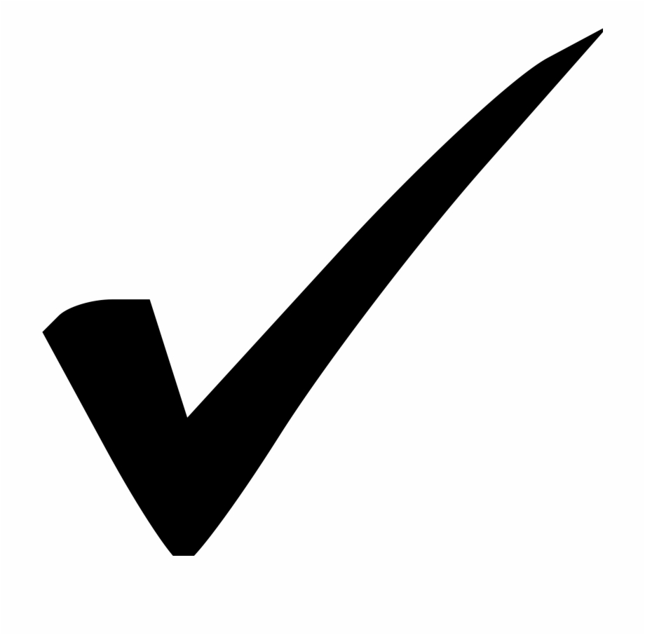 clipart black and white stock Black check mark transparent. Checkmark clipart endorsement.