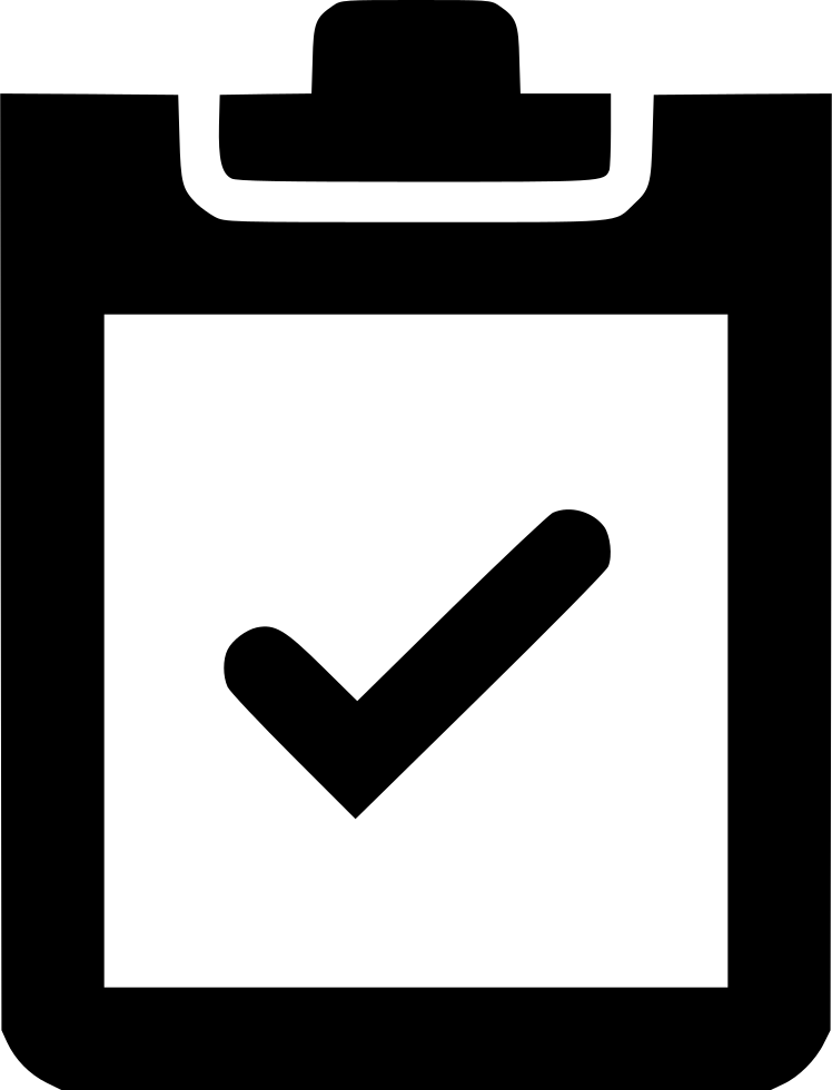 png free library Checkmark clipart endorsement. Clipboard svg png icon.