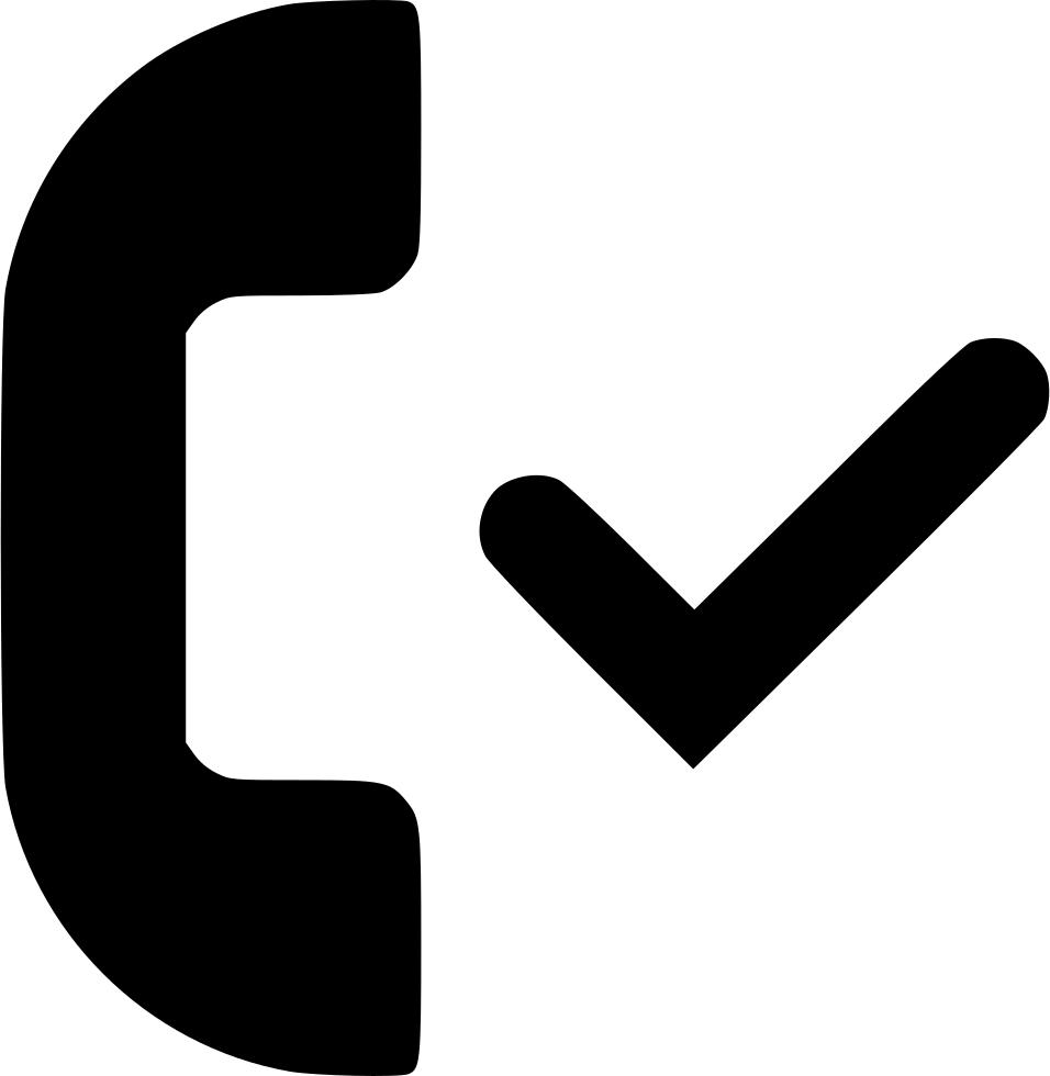 png transparent Accepted call svg png. Checkmark clipart endorsement.