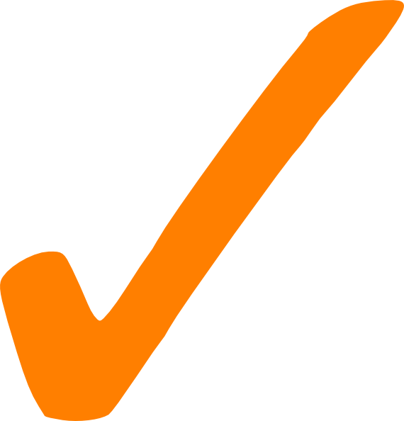 clip art library download Orange Check Mark Clip Art at Clker