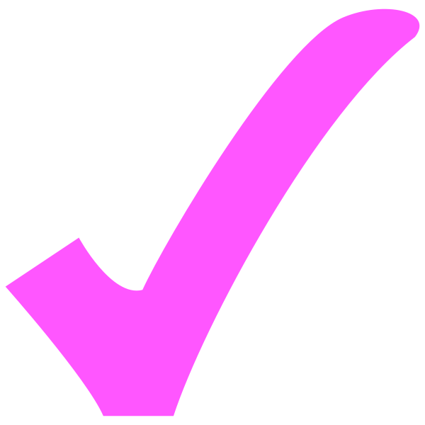 image transparent stock checkmark clipart pink #77301876