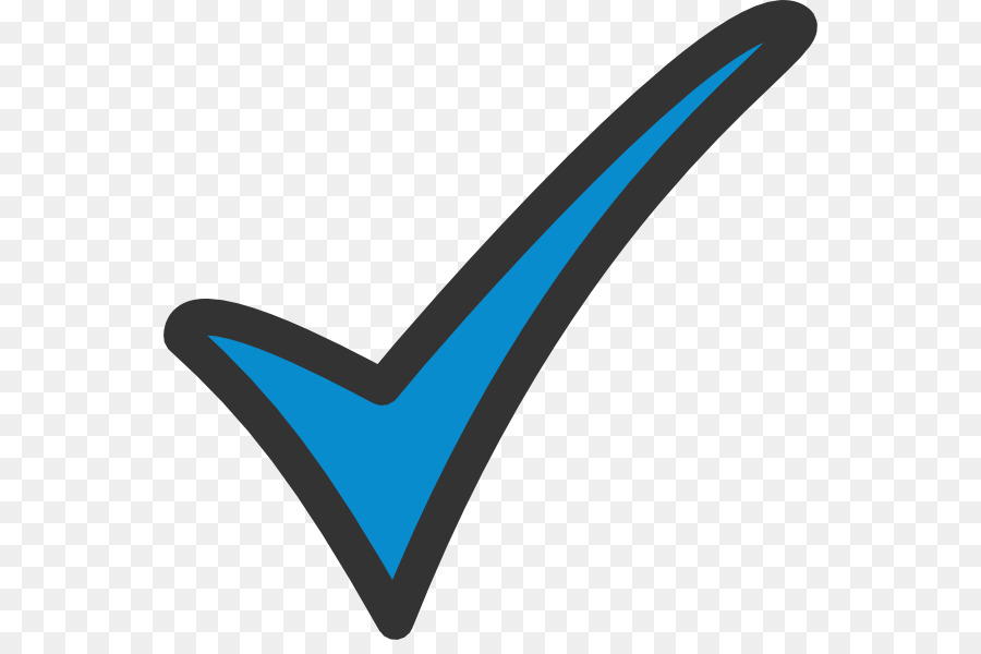 png royalty free library Blue check mark tick. Checkmark clipart tic.