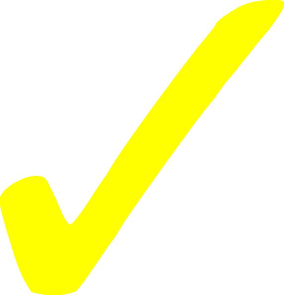 png transparent Transparent Yellow Checkmark Clip Art at Clker