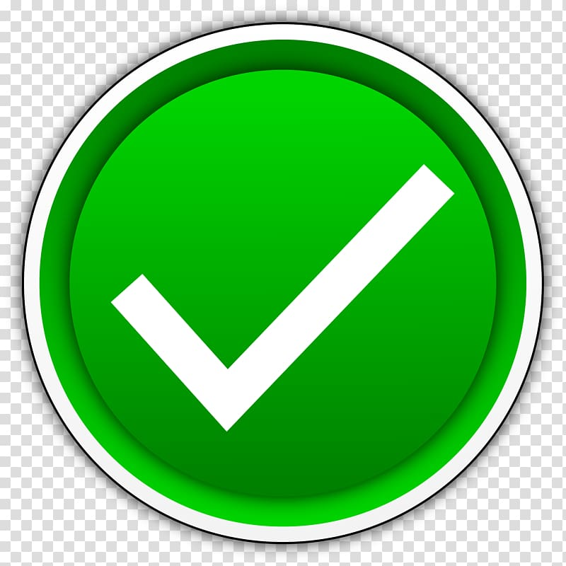 picture royalty free library Checkmark transparent yes. Green and white check