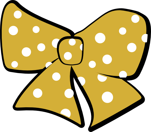 clip royalty free download Gold Cheer Bow Clip Art at Clker