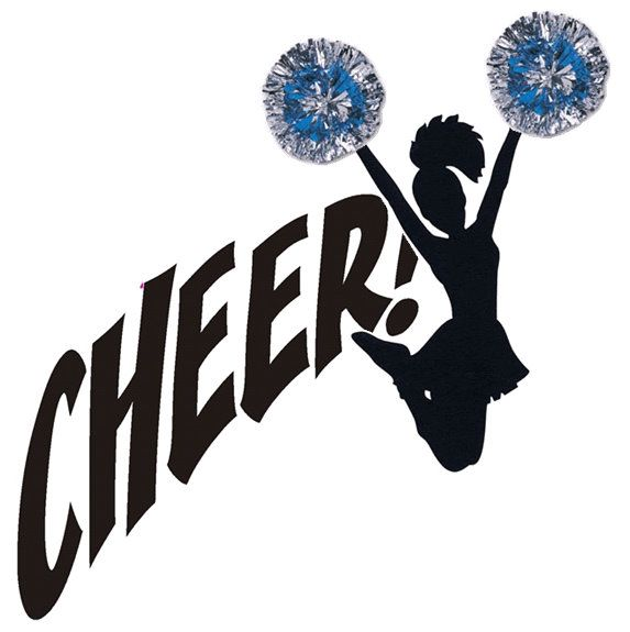 png library Cheer clipart. Free image cheerleading silhouette