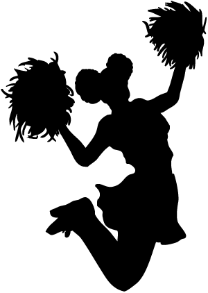 banner transparent library Cheerleading clipart human pyramid. Stunts silhouette at getdrawings