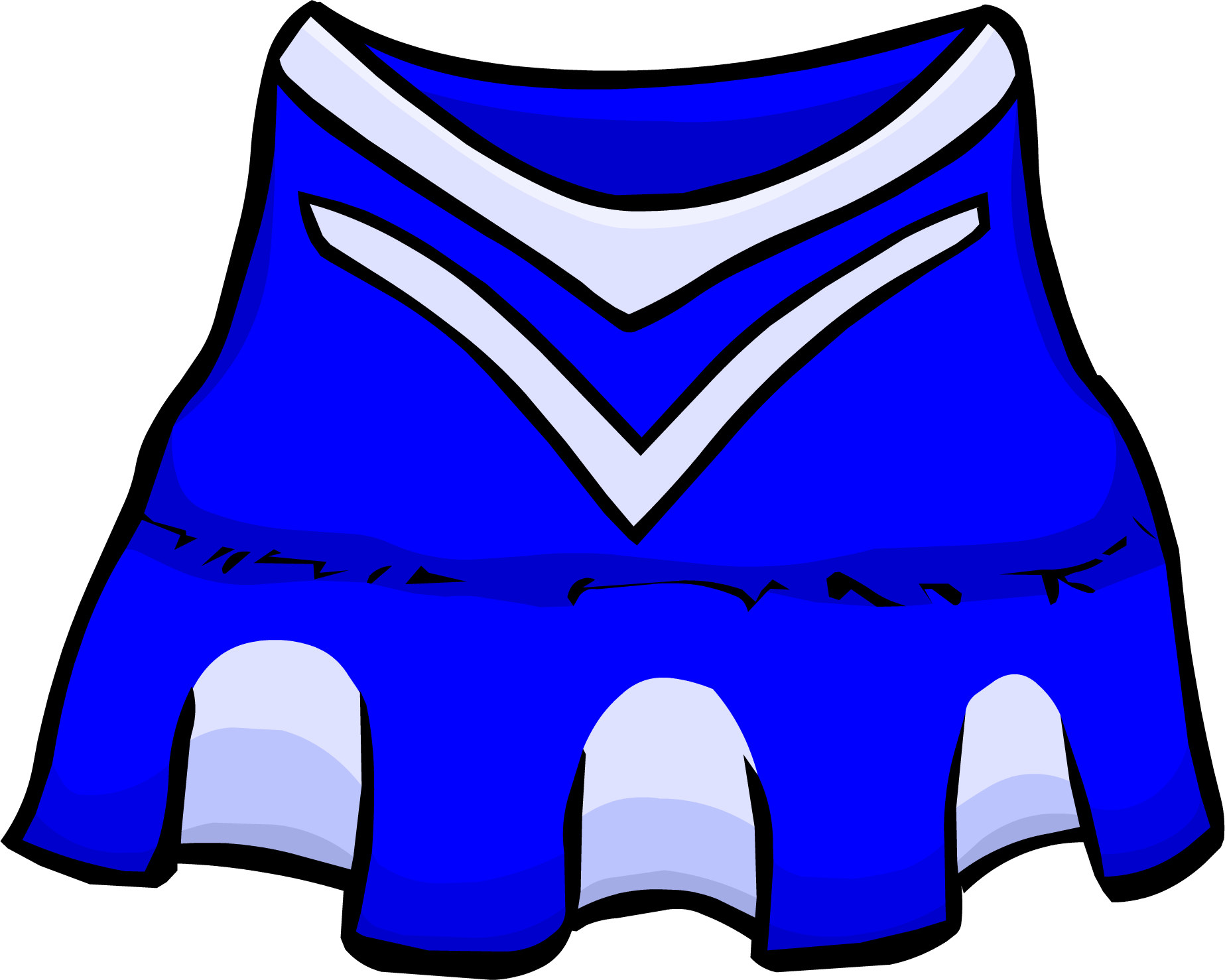 jpg royalty free stock Blue outfit club penguin. Clothes clipart cheerleader.
