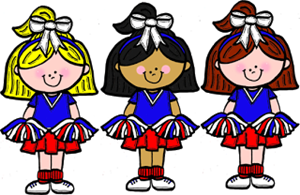 image library stock Cheerleaders about the club. Cheerleading clipart cheerleading coach.