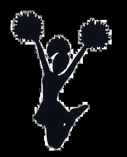 freeuse library Cheerleaders Silhouette at GetDrawings