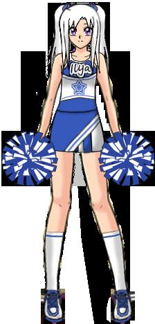 clip black and white stock Cheerleader Ilya