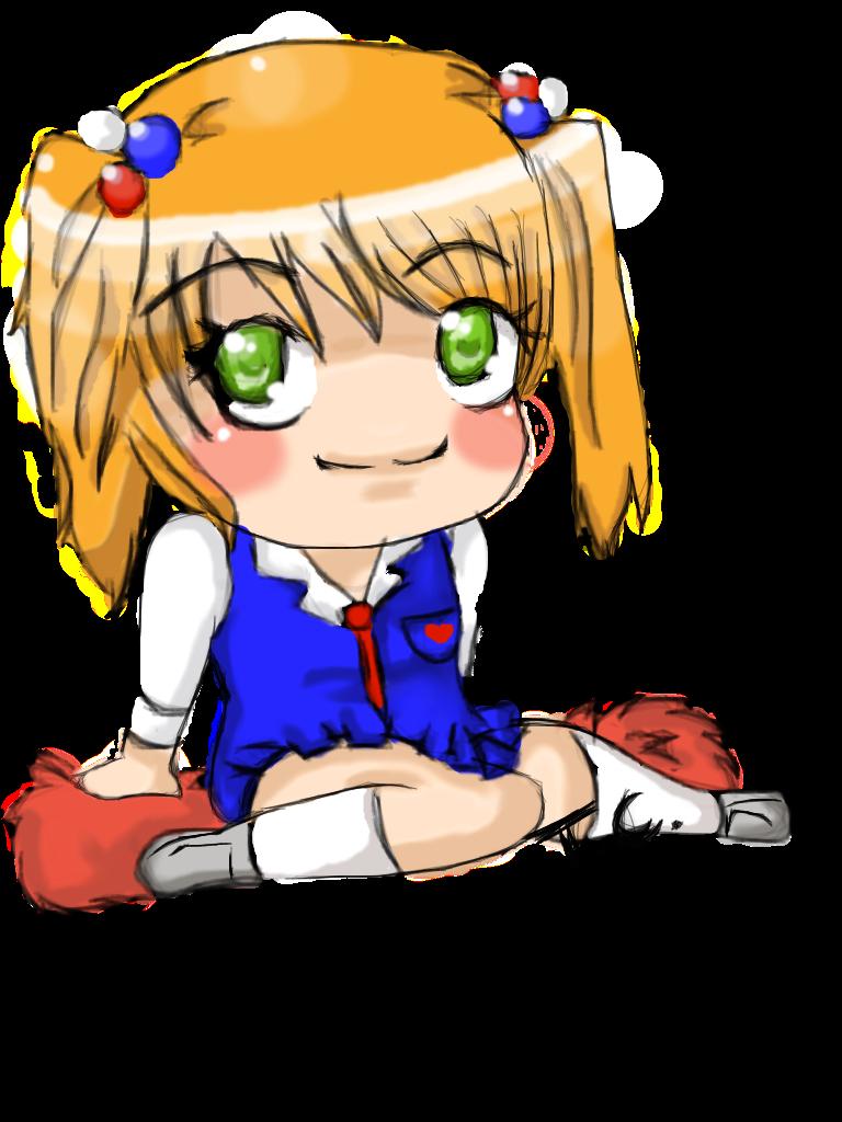 clip art royalty free stock Chibi Cheerleader by OneCrazyBunny on DeviantArt