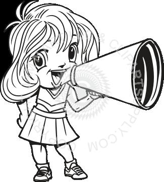 graphic download Cheerleader Megaphone Drawing at GetDrawings