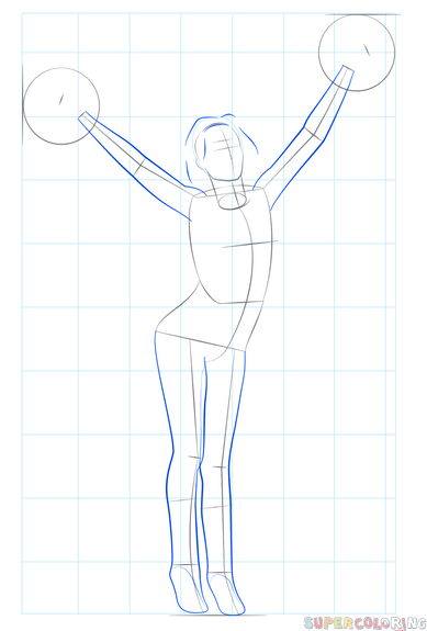 clip transparent How to draw a cheerleader