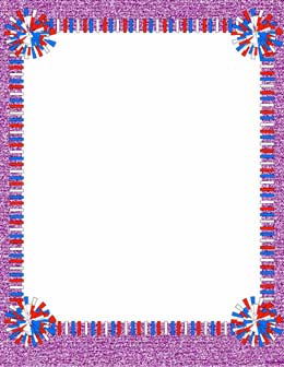 svg royalty free Cheerleading clipart borders. Portal