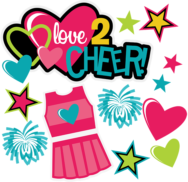 clip art royalty free Love cheer scrapbook collection. Cheerleading svg