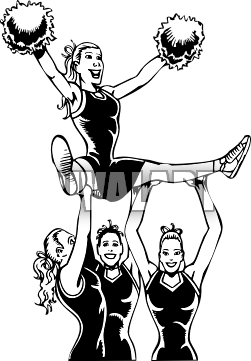 picture freeuse Cheerleading Drawing at GetDrawings