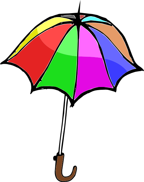 clipart black and white library Umbrella i love rainbows. Cheerleading clipart splendid.