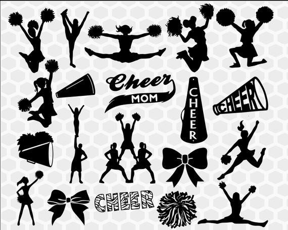 image download Cheer bundle cheerleader clipart. Cheerleading svg