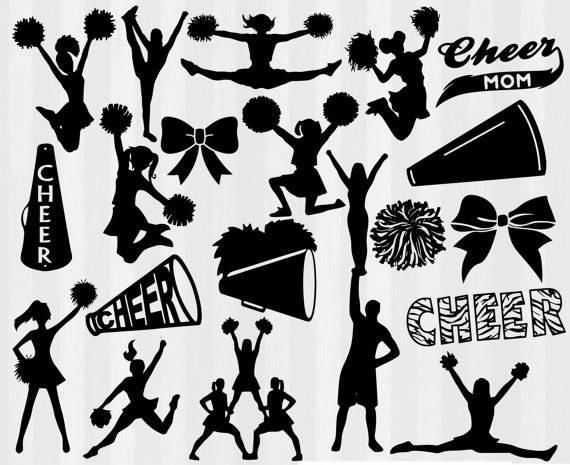 clipart royalty free download Cheerleader cheer files dxf. Cheerleading svg