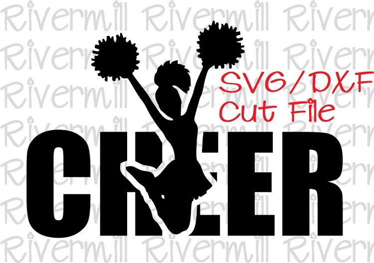 clip black and white library Cheerleading svg. Pin on cut files