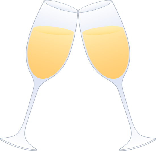 jpg royalty free Toasting glasses . Cheers clipart.