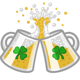vector transparent library Cheers clipart beer food. Clink icon st patricks.
