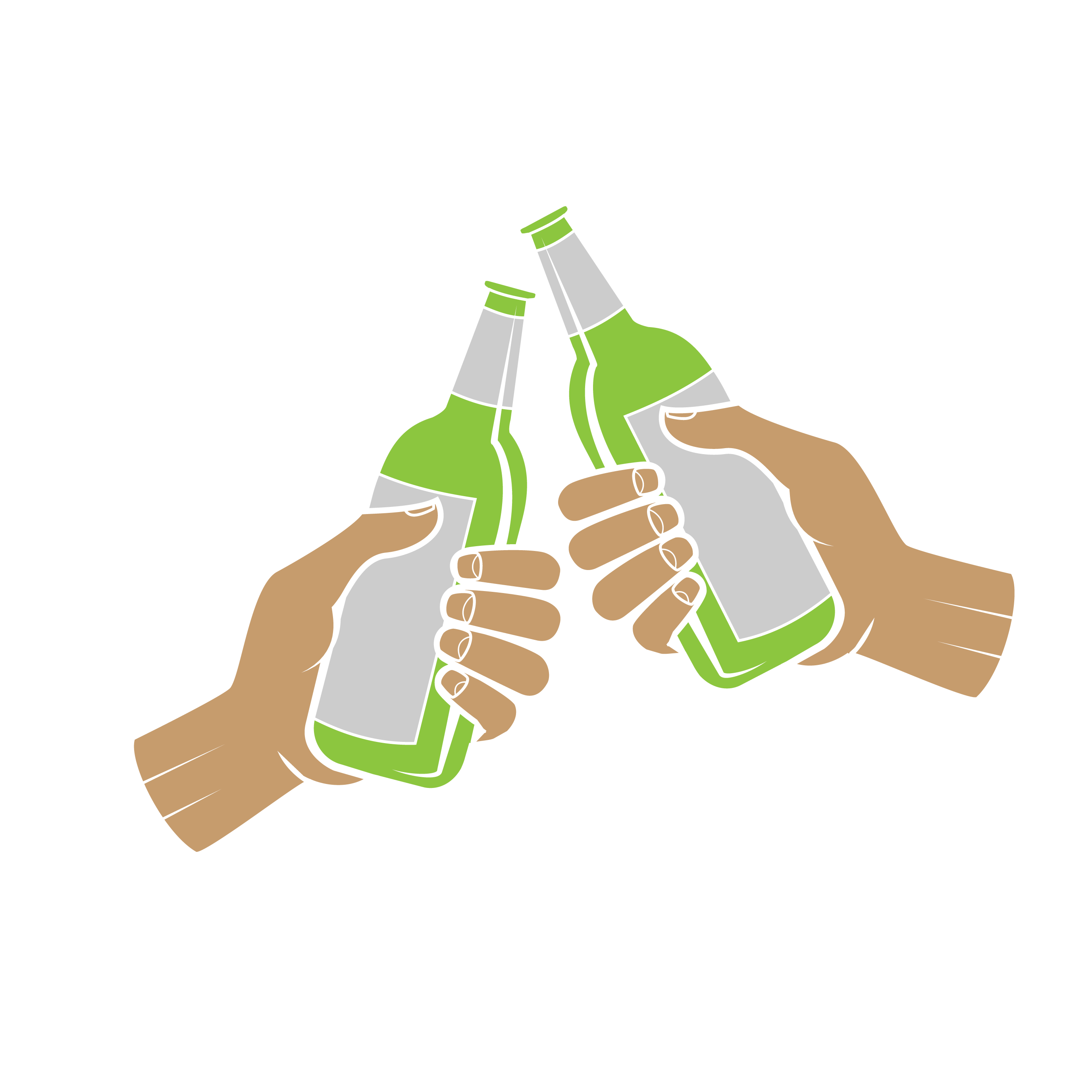 banner black and white Beer computer file cheers. Vector bottle hand holding