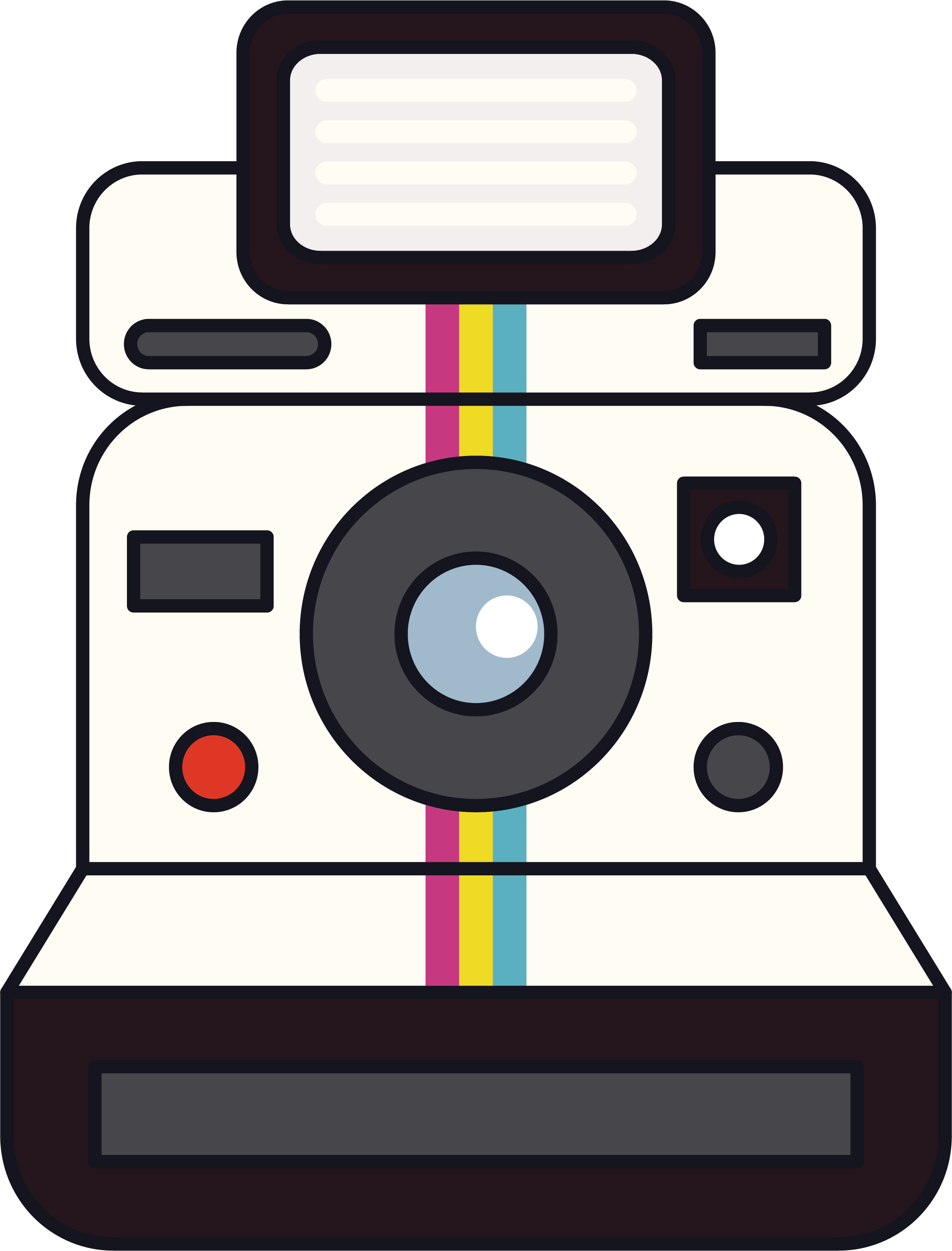 clip library library Electronics clipart. Instant camera polaroid corporation.