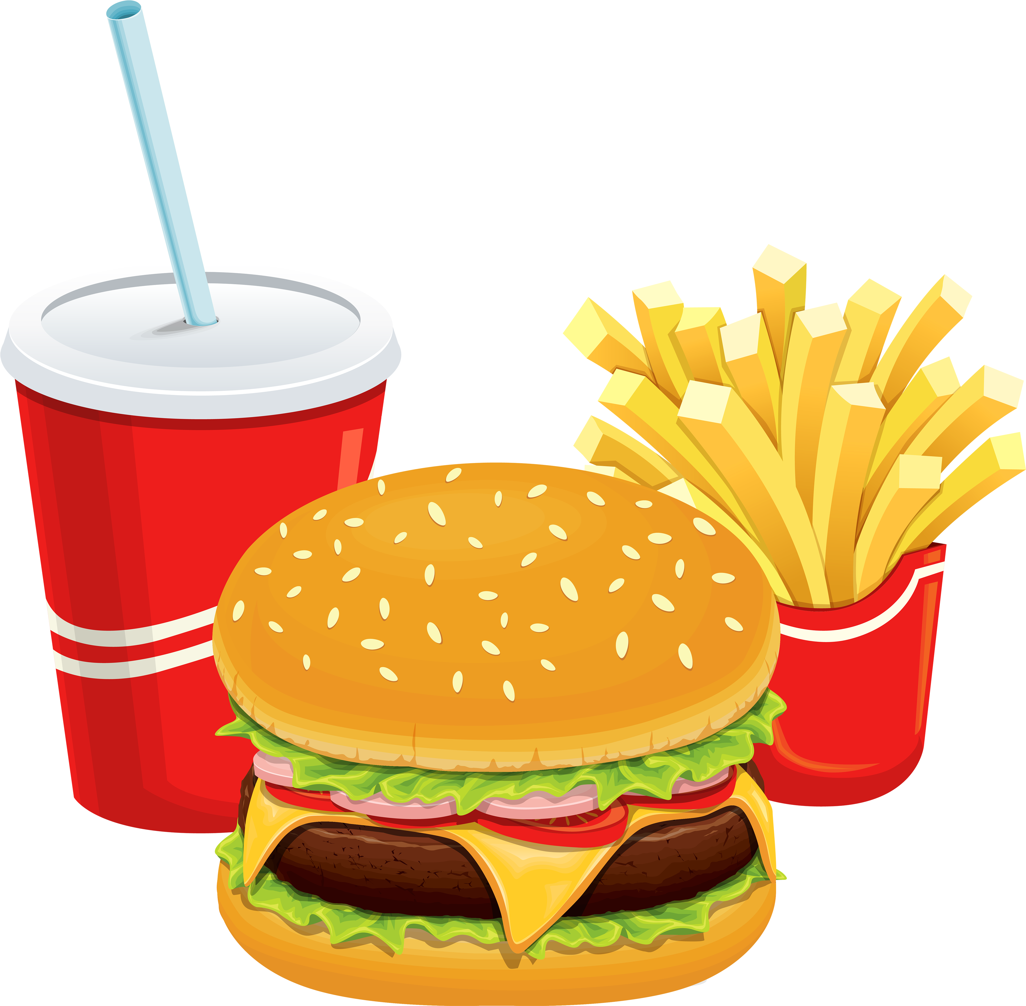 royalty free stock Man cliparthot of restaurant. Cheeseburger and fries clipart.