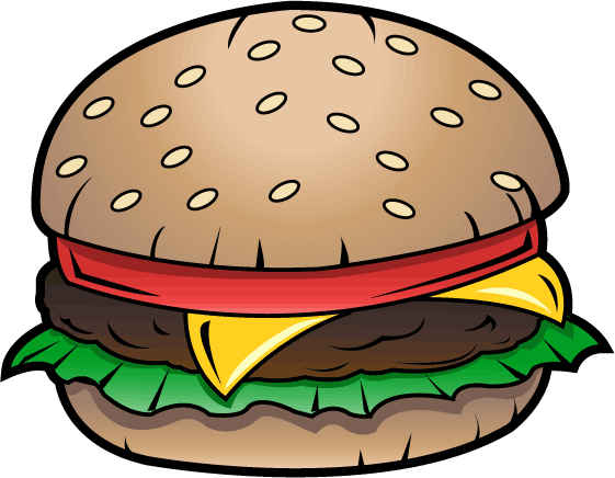 png black and white Cheeseburger drawing art. Junk food clip free
