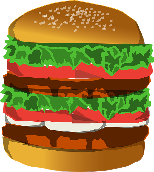 picture freeuse stock Big free on dumielauxepices. Hamburger clipart drawn
