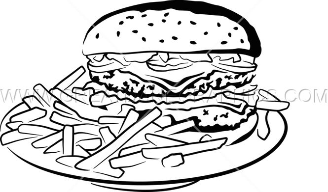 banner black and white library Burger clipart black and white. Images the best in.