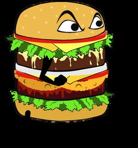 vector freeuse Hamburger monster burger free. Cheeseburger clipart cartoon.